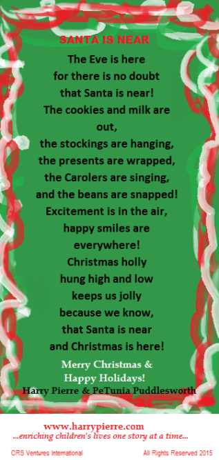 CRS Santa is Near Poem
